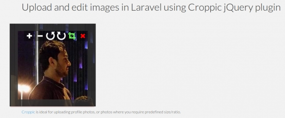 Facebook Like Profile Photo Upload in Laravel 5 using Jquery